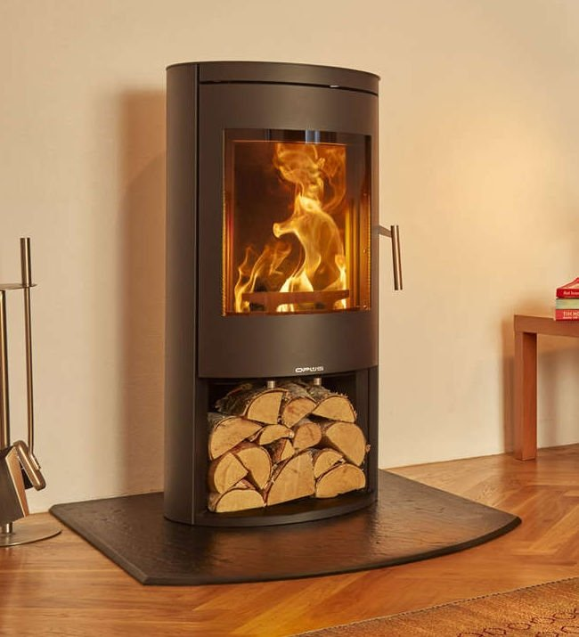 Opus Melody 5kW Ecodesign Ready Defra Wood Stove With Log Store
