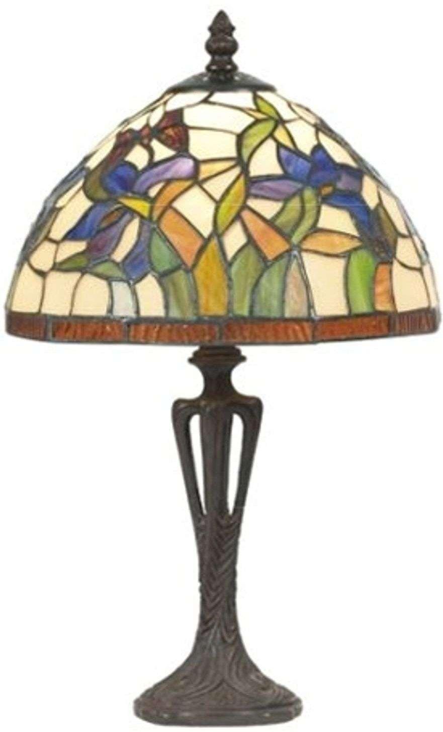 Discreet table lamp ELANDA  Tiffany style  41 cm