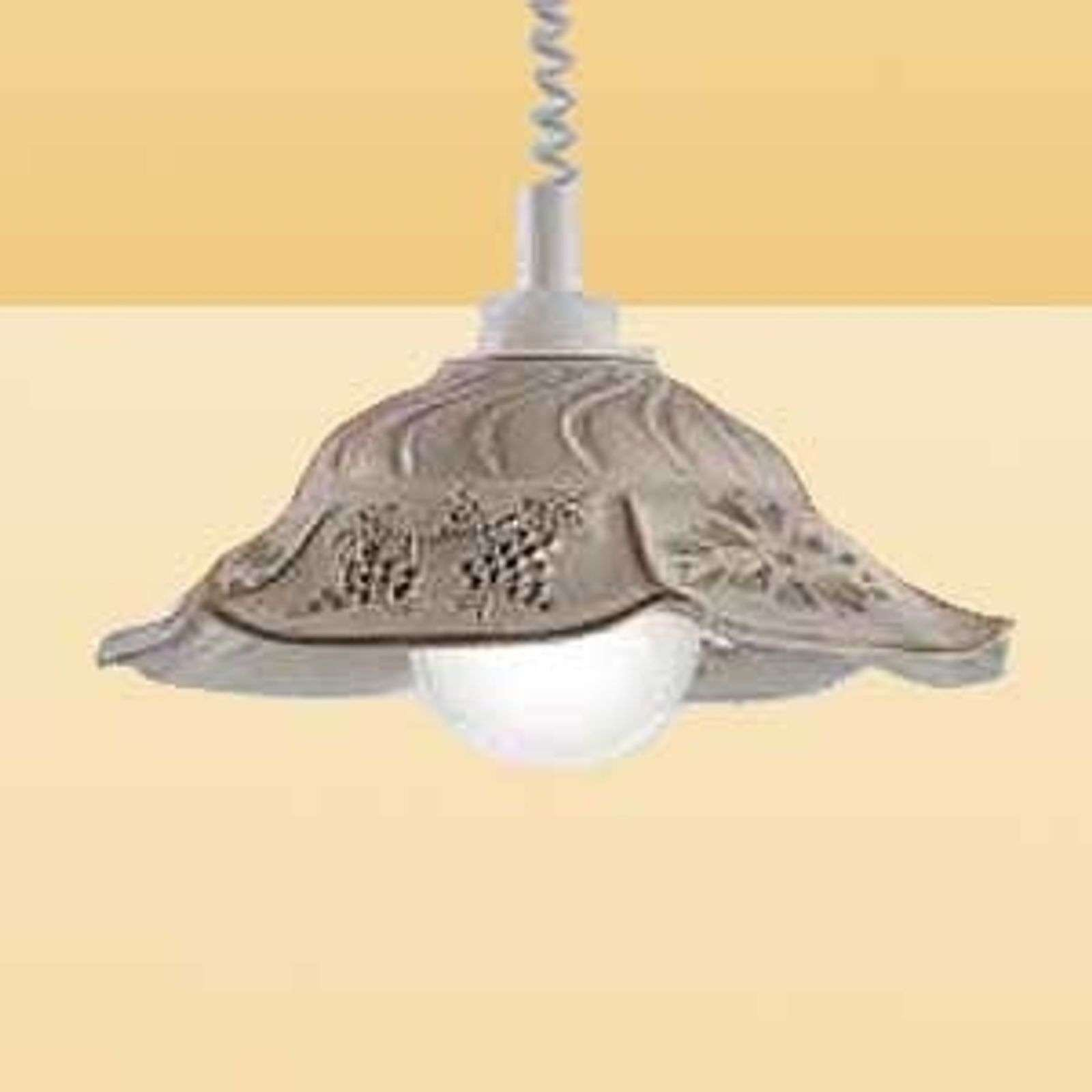 VITELA hanging light with a rustic appearance