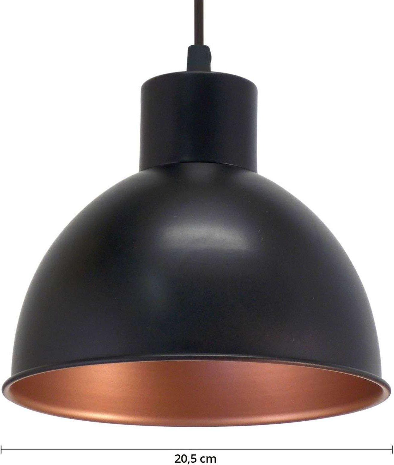 Andrin Black Pendant Lamp   Copper Interior