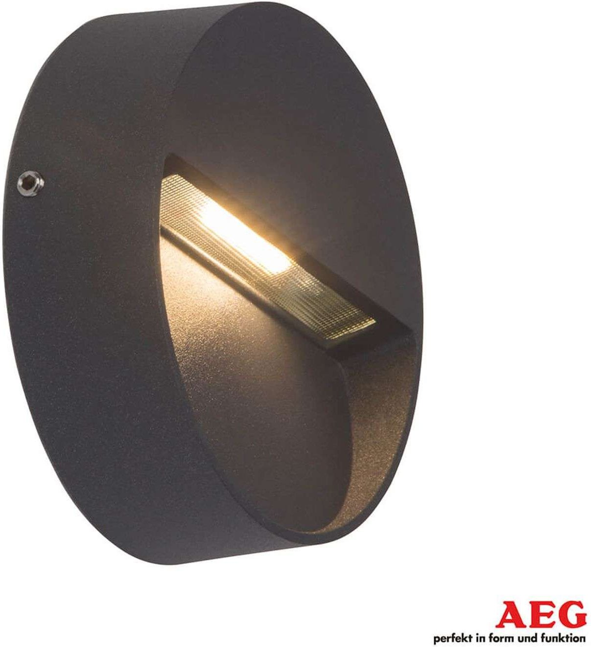 Round Front LED outdoor wall lamp in anthracite