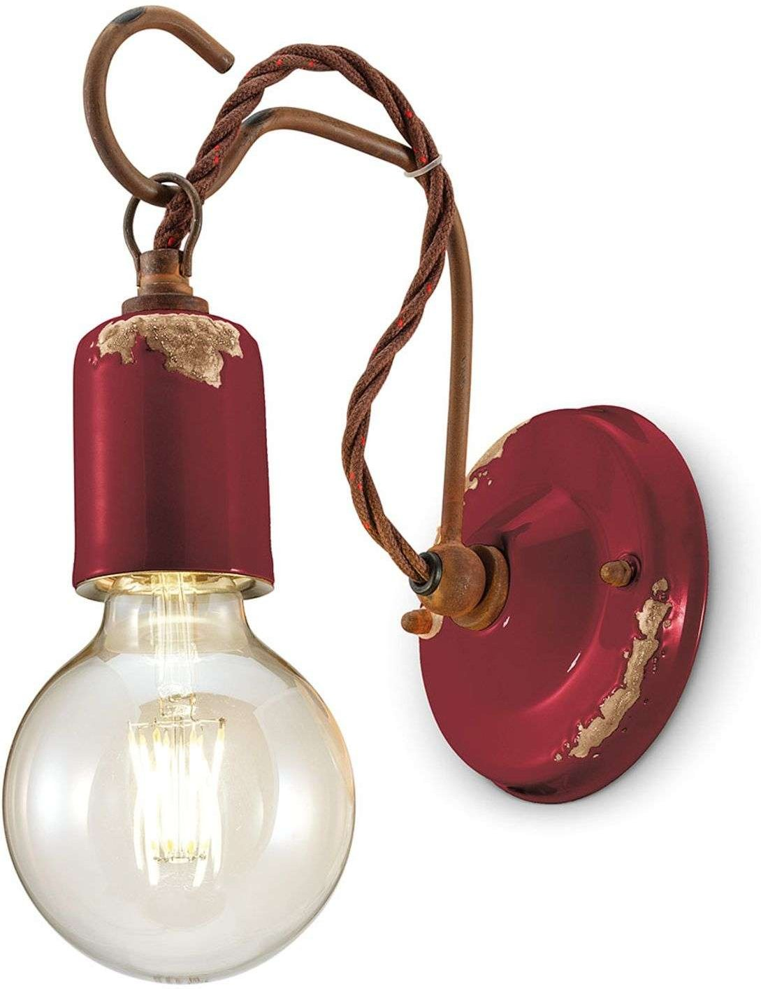 C665 wall light in the vintage style  wine red