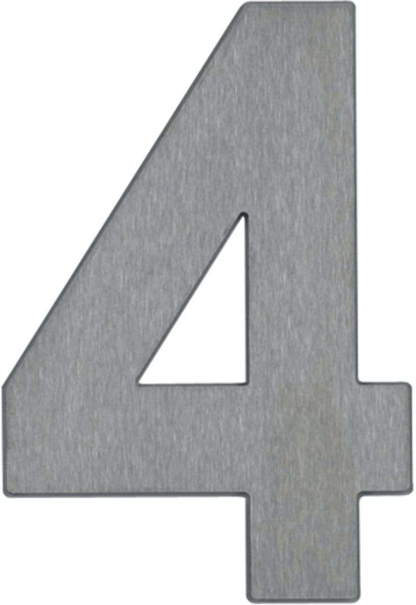 House number 4   made of stainless steel