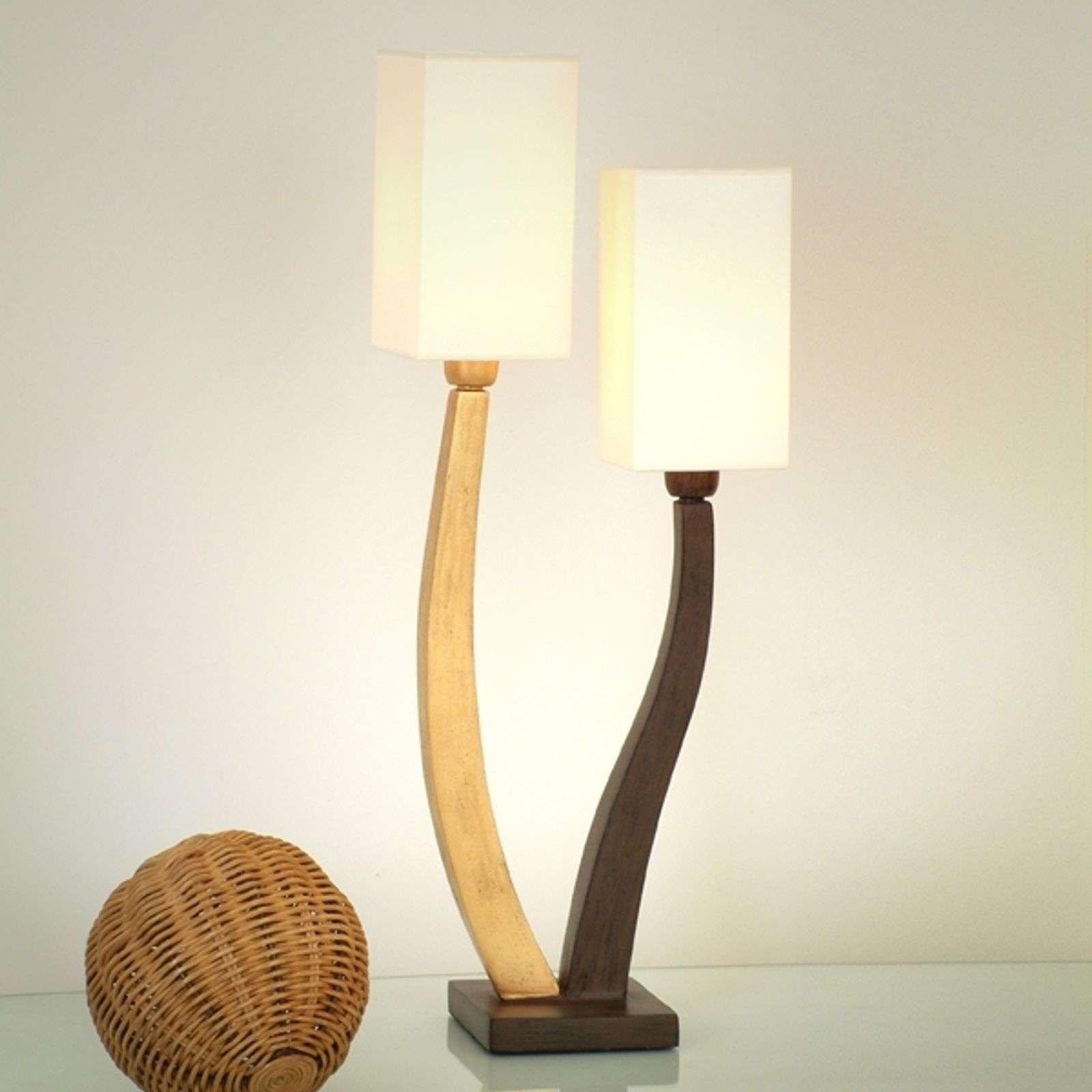 Beautiful table lamp QUADRANGOLARE   gold 2 bulb