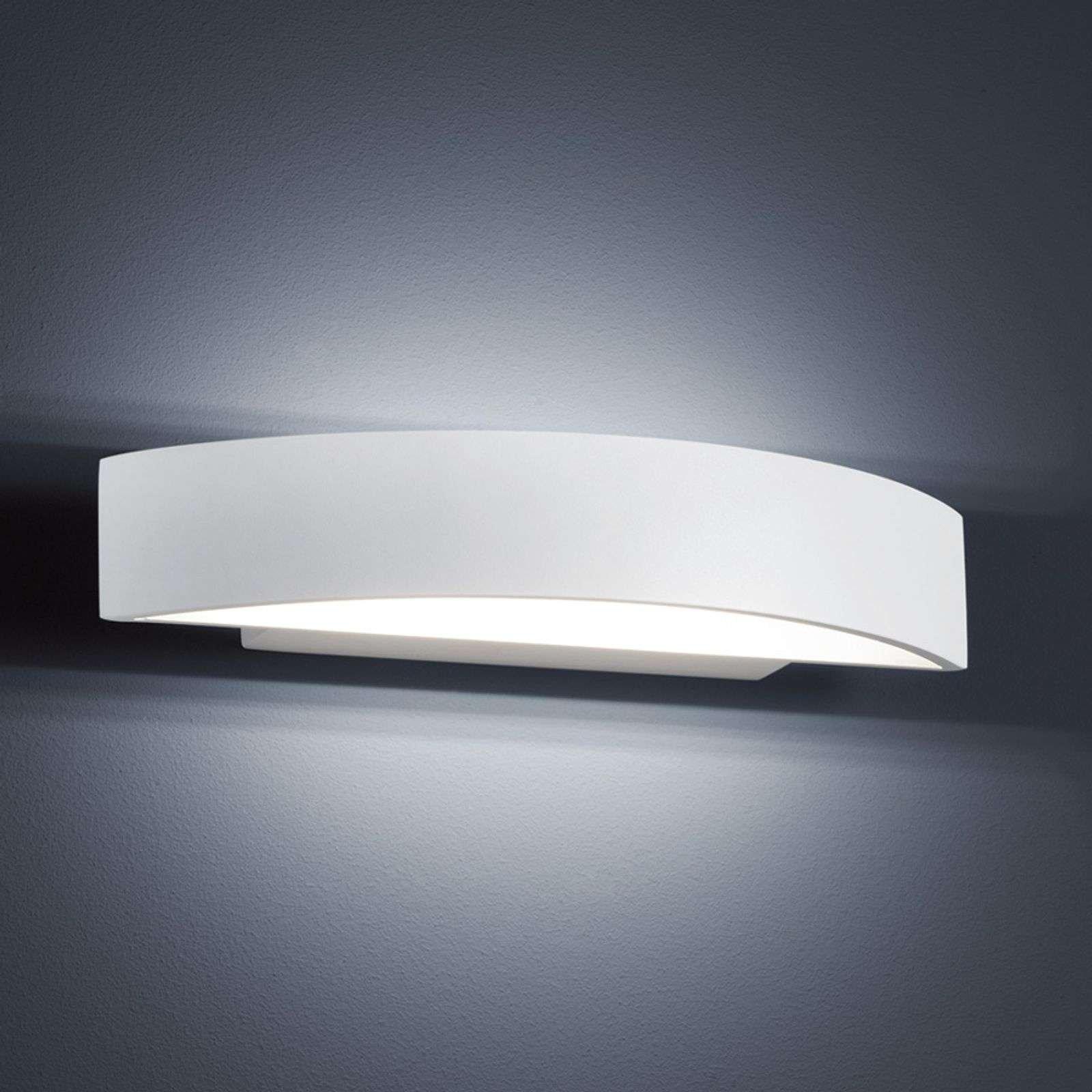 Modern LED wall light Yona in matt white  27 5 cm