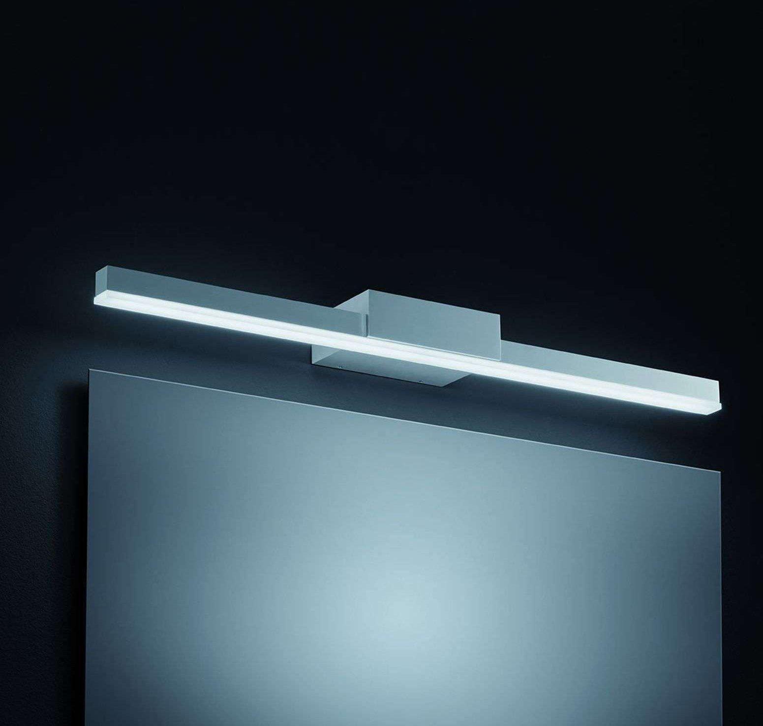 60 cm long LED mirror light Ivy in matt aluminium