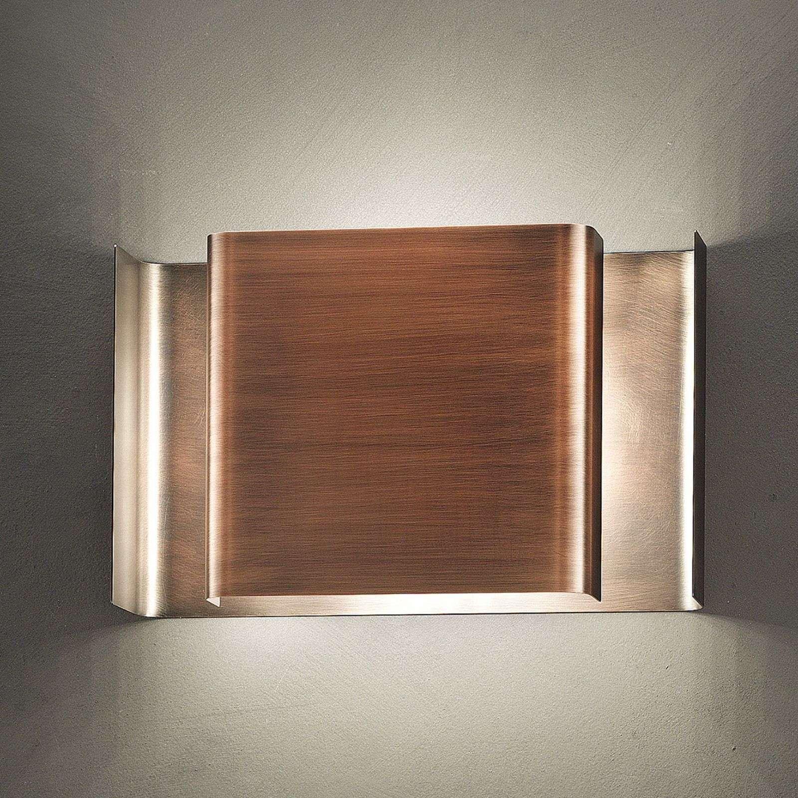 Bronze coloured LED wall light Alalunga