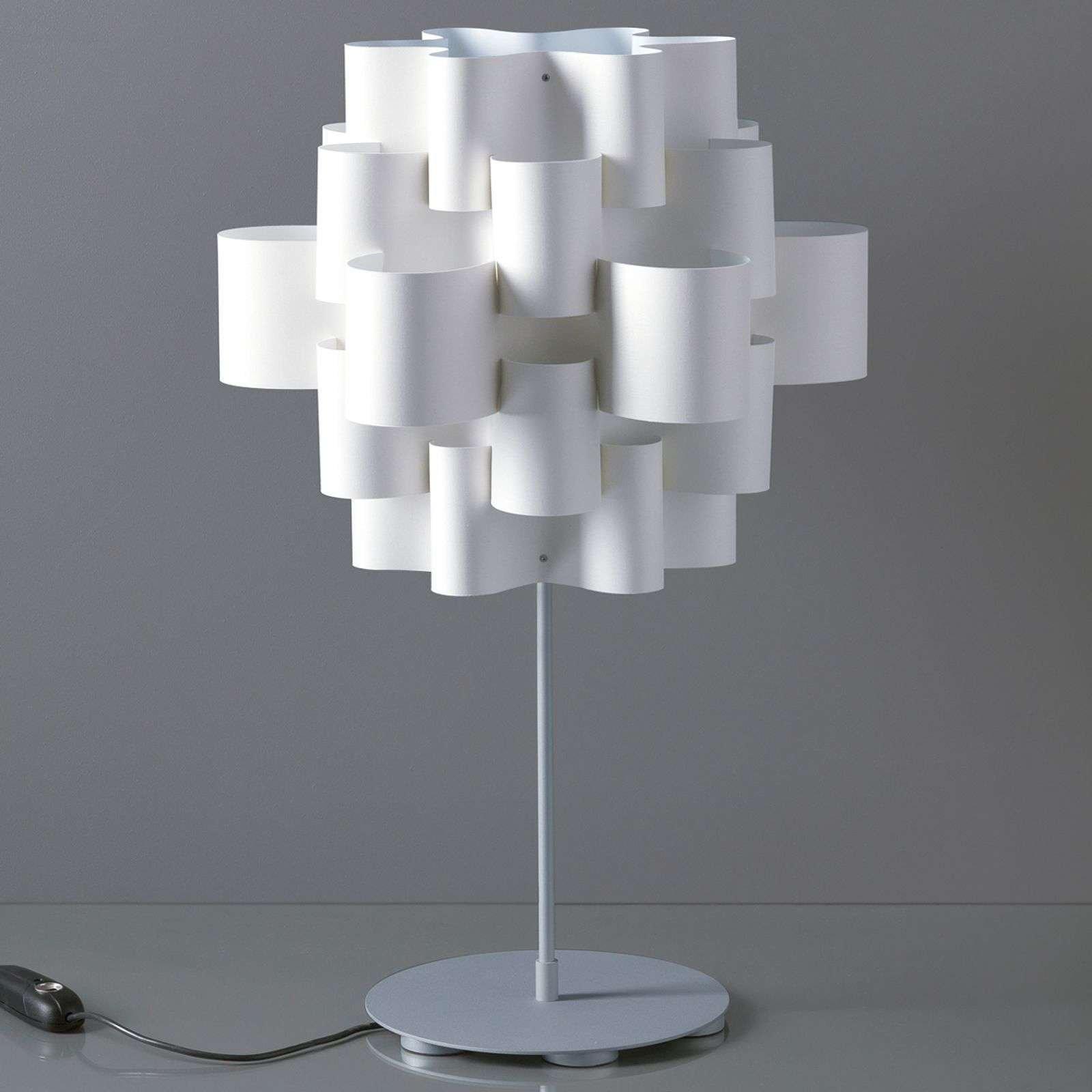Exceptional designer table lamp Sun in white