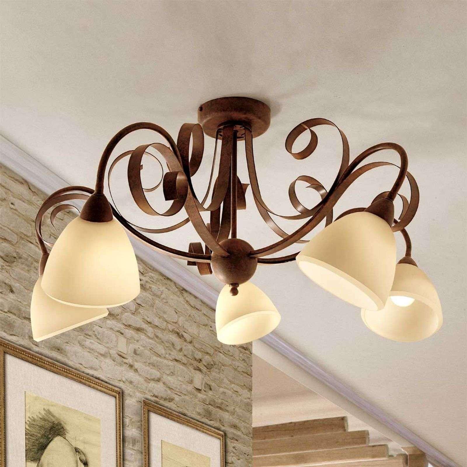 5 bulb ceiling light Francesco