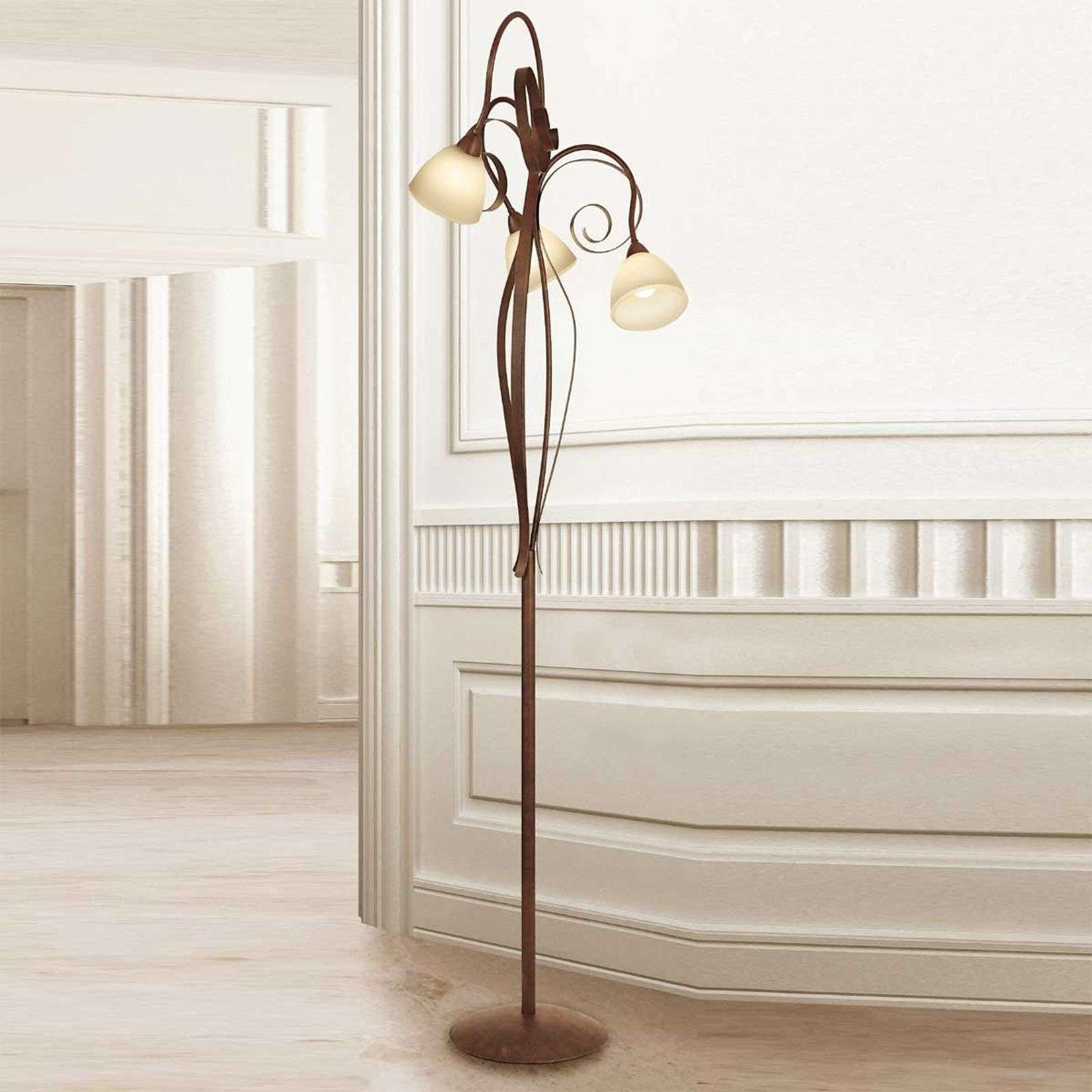 3 bulb floor lamp Francesco