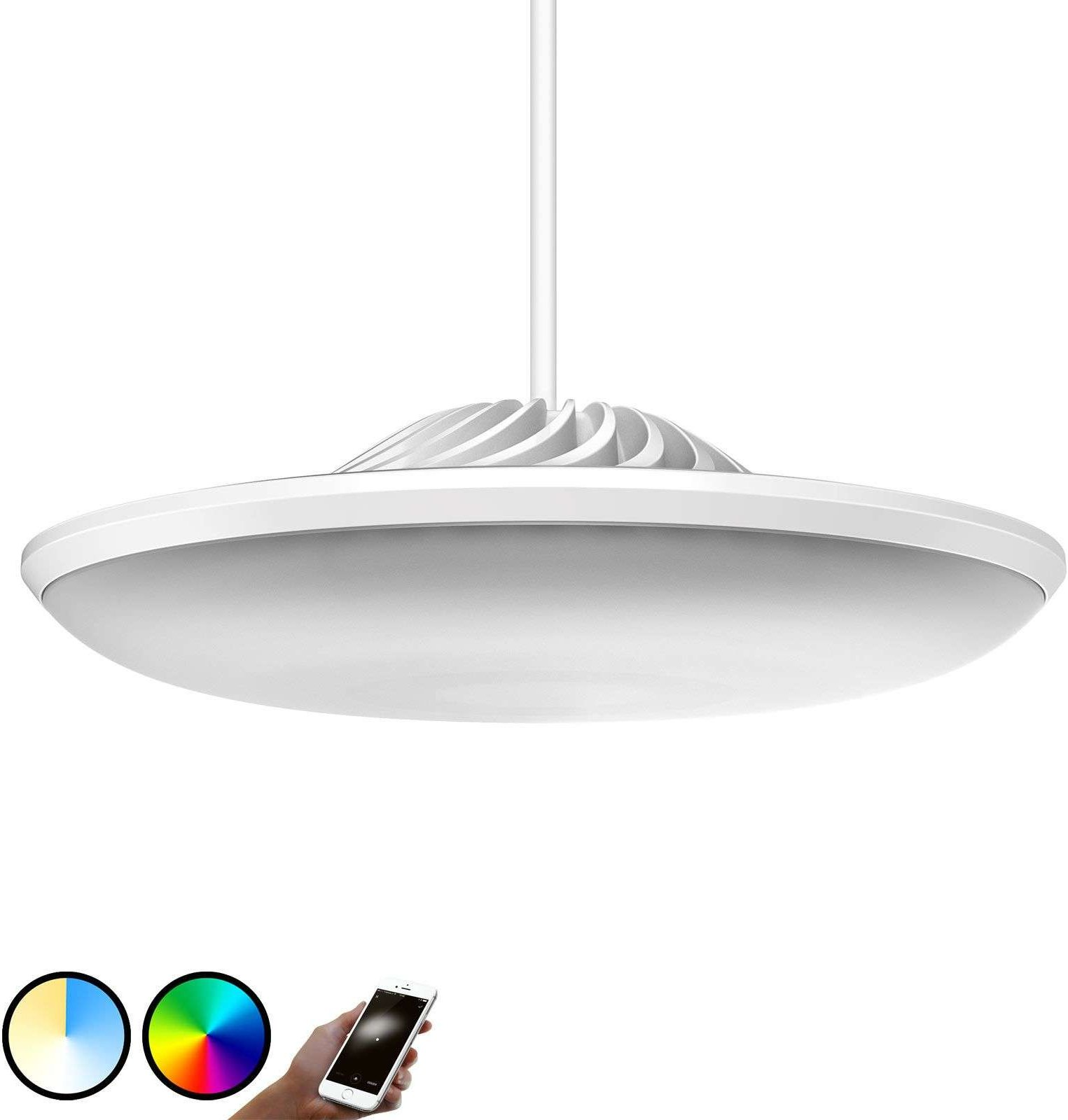 Luke Roberts Model F LED hanging light in white