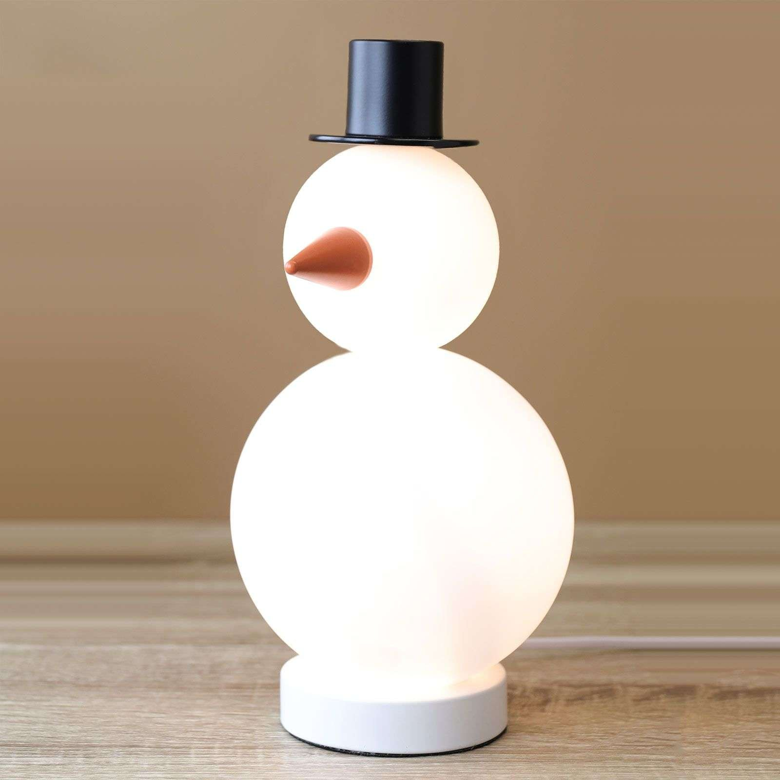 Snowman Bob decorative light  glass