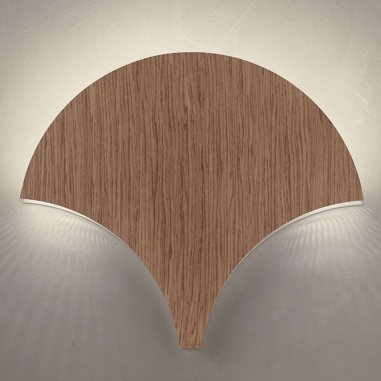 Exceptional LED wall light Palm  walnut