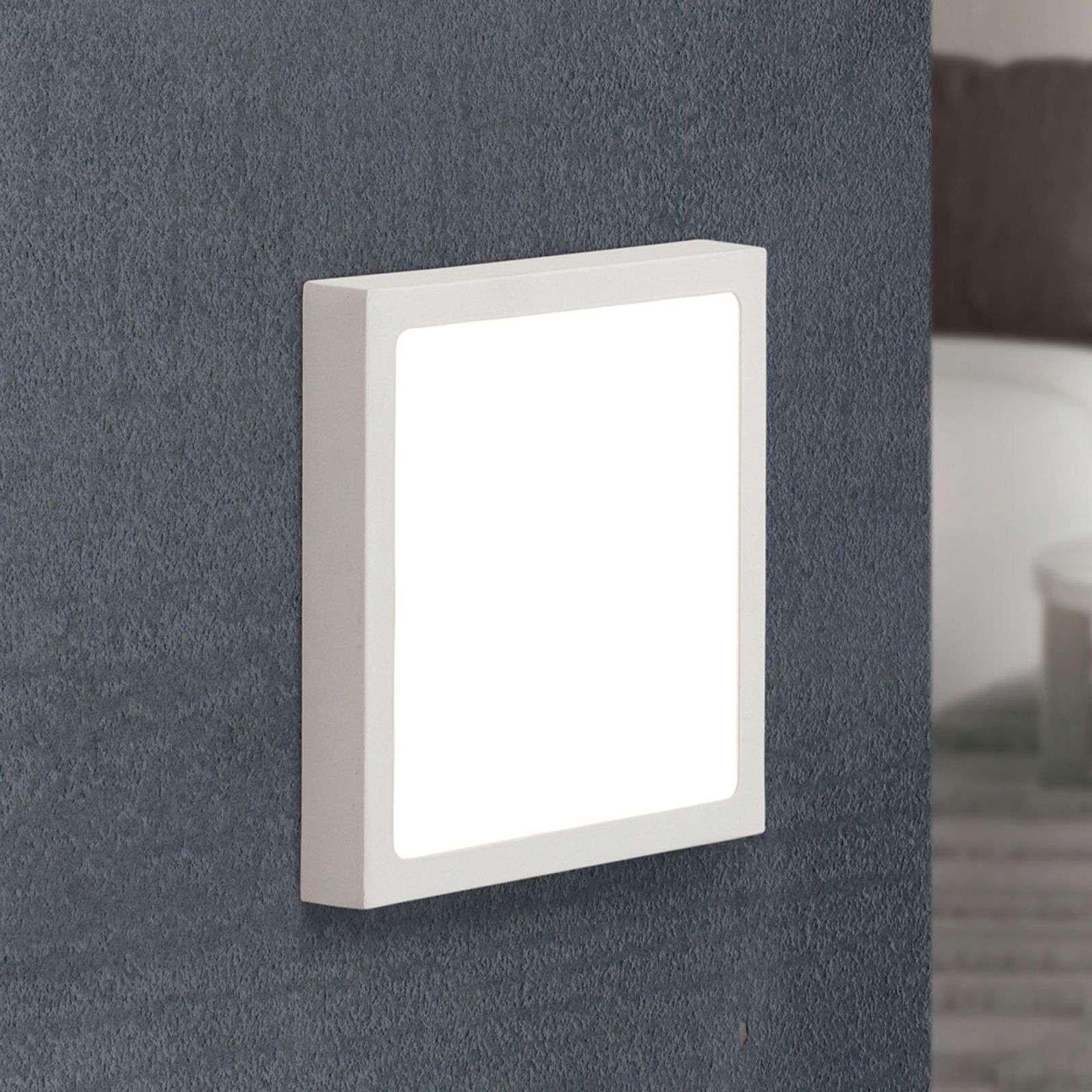 Square LED ceiling lamp Vika  18 cm