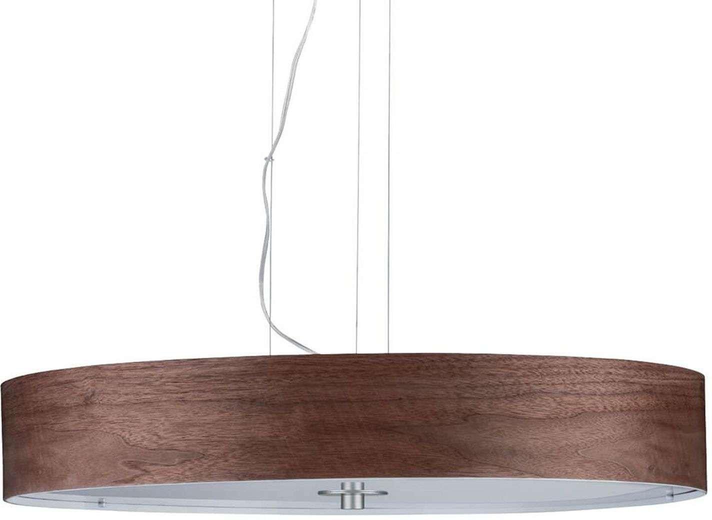 Pendant light Liska  dark brown wooden lampshade