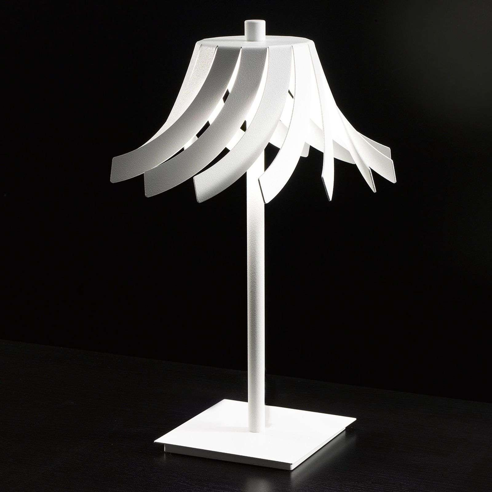 White designer table lamp Panama with LEDs  20 cm