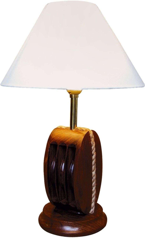 Original table lamp AHOI with wood 52 cm high