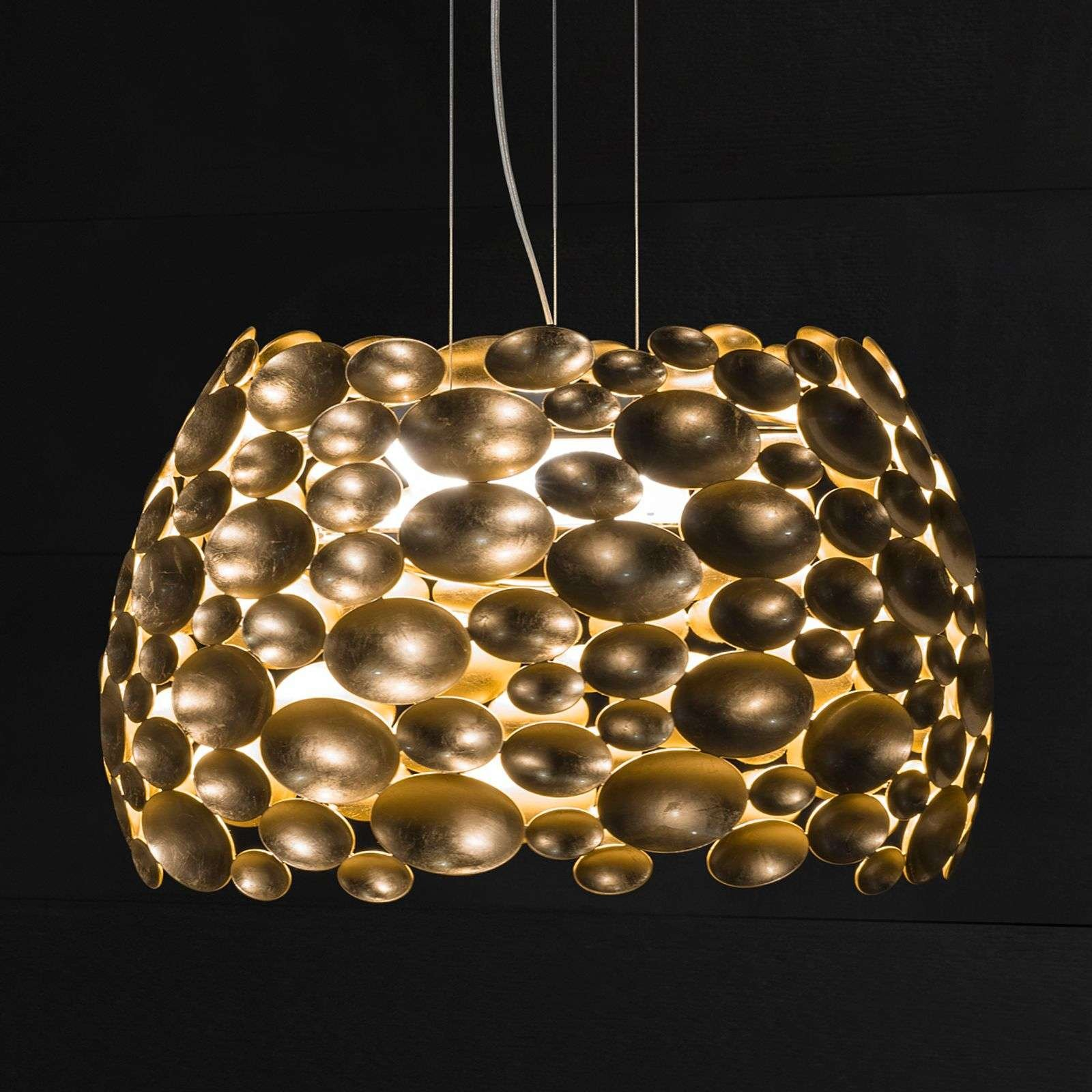 Gold plated Anish LED pendant light   63 cm