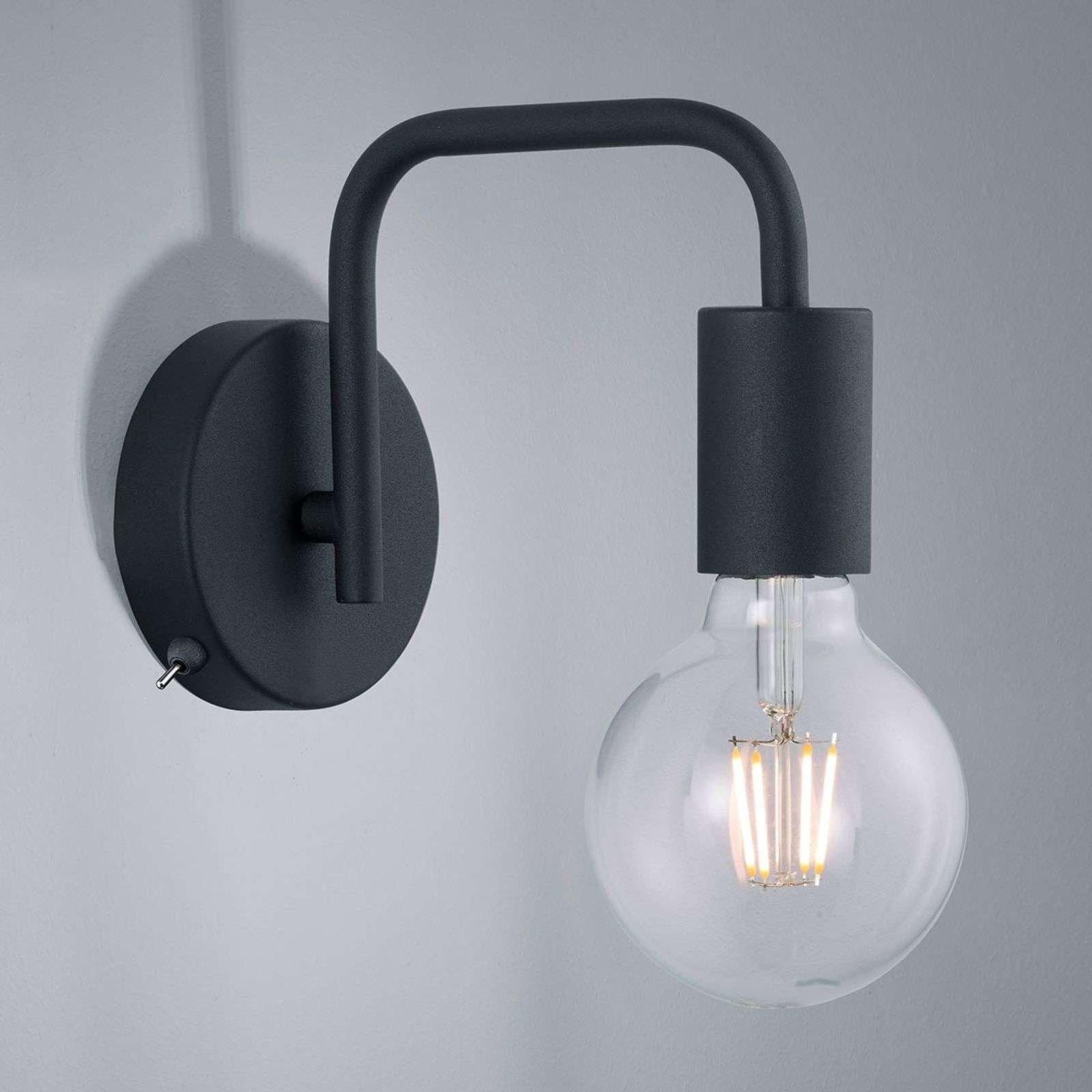 Diallo wall light without lampshade  matt black
