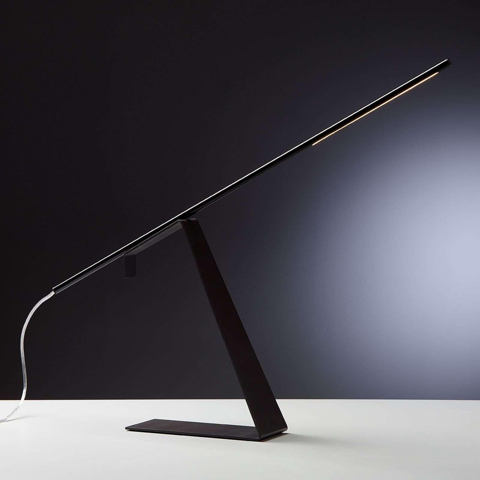Black LED designer table lamp Jella