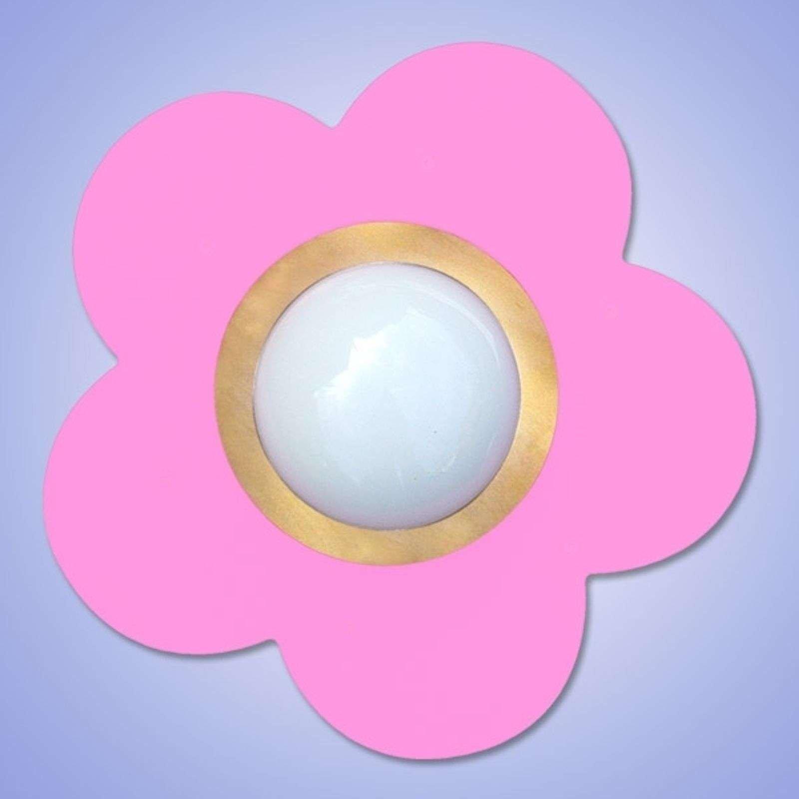 Decorative pink Petit Fleur ceiling light