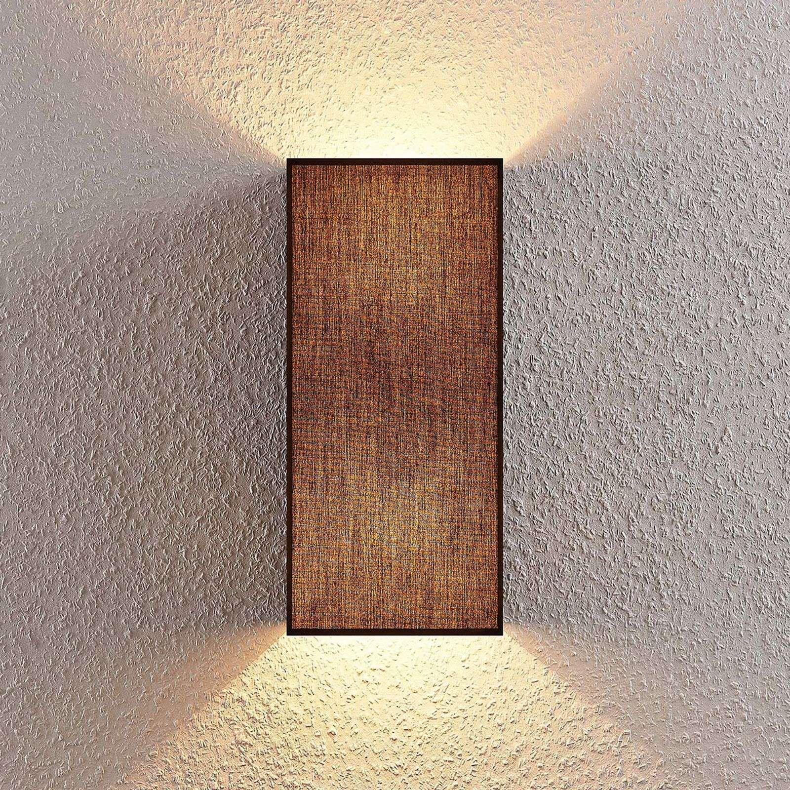 Adea fabric wall lamp  17 cm  angular  black