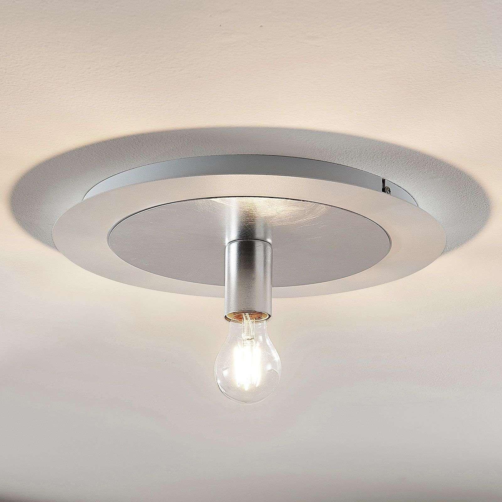 Justik metal ceiling light  1 bulb  white