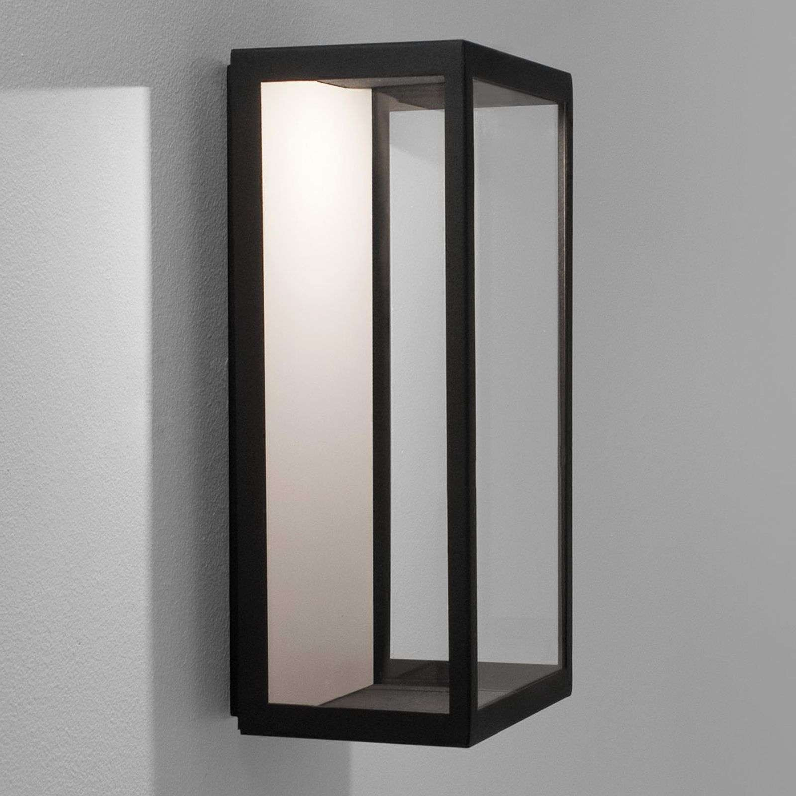 LED outdoor wall light Puzzle in black