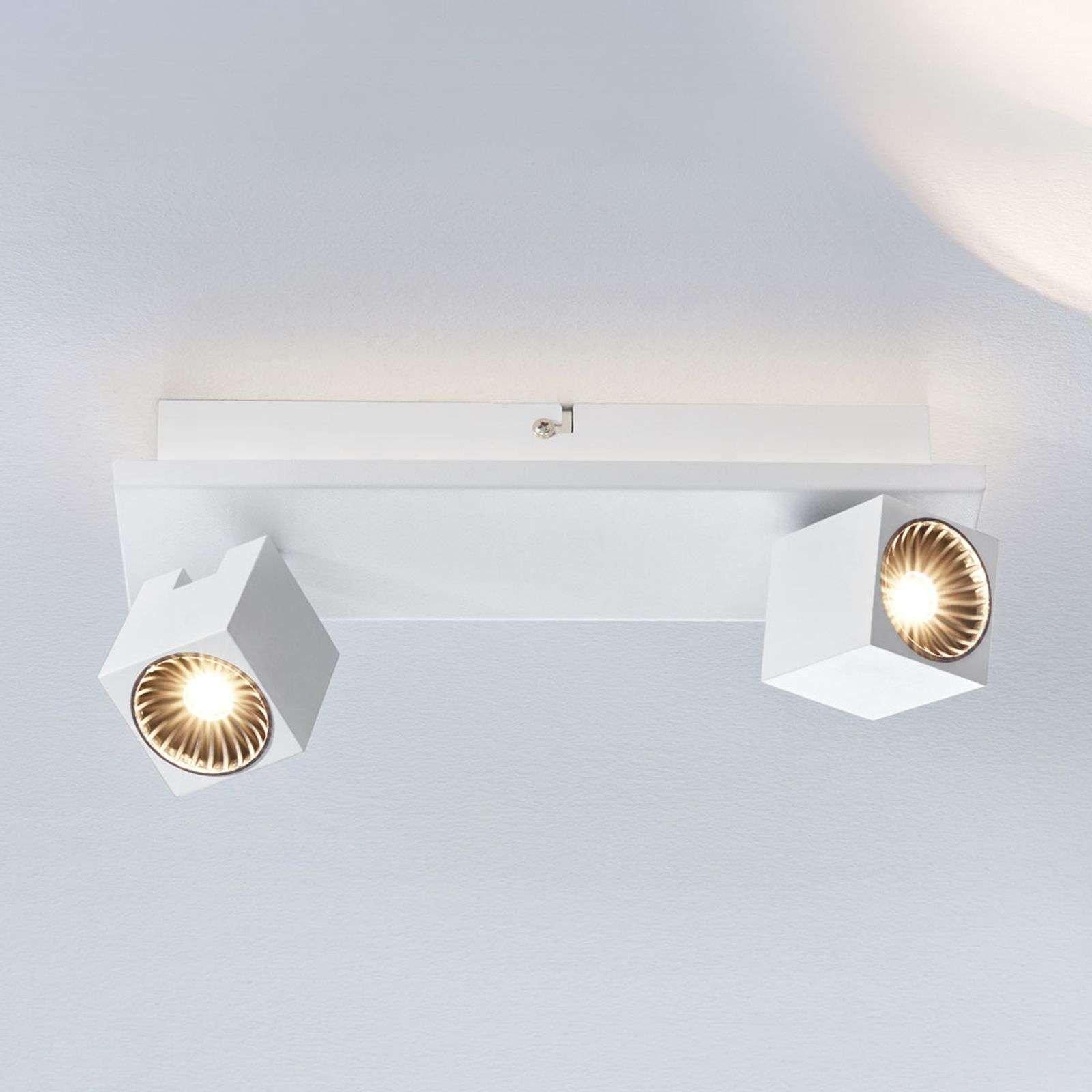 Taly LED ceiling lamp  2 white spotlights