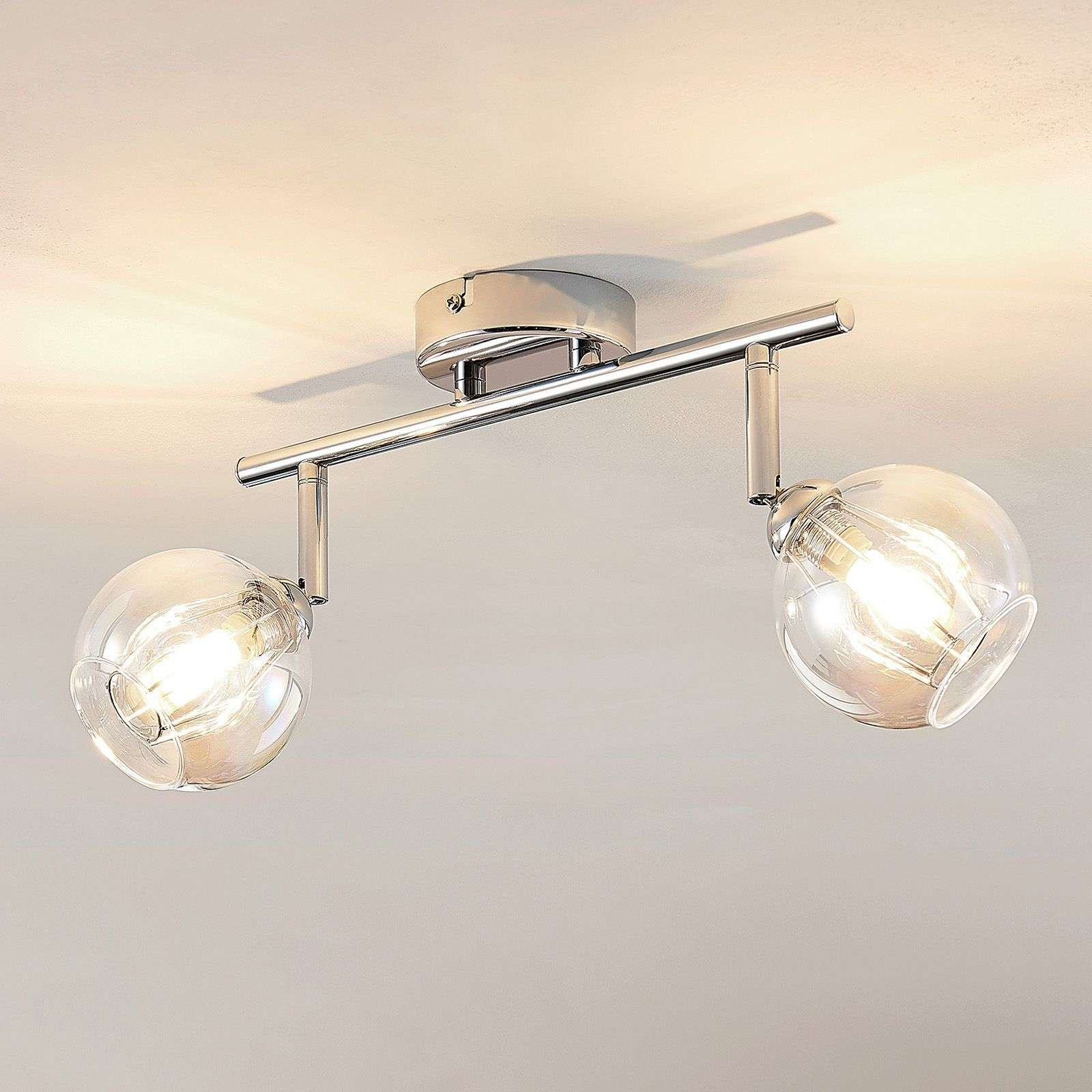 Lindby Pranas LED ceiling spotlight  two bulb
