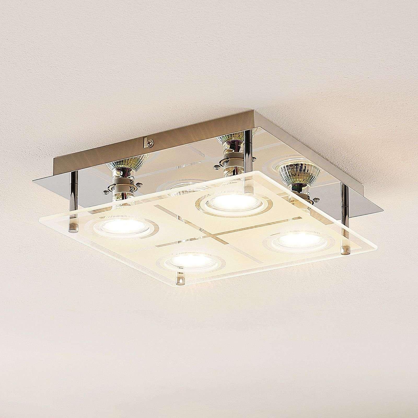 ELC Tahyla LED ceiling light  GU10  glass  26 cm