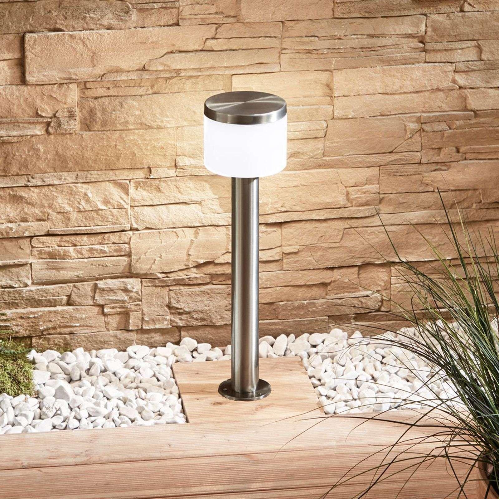 Cathleen LED pillar lamp  stainless steel