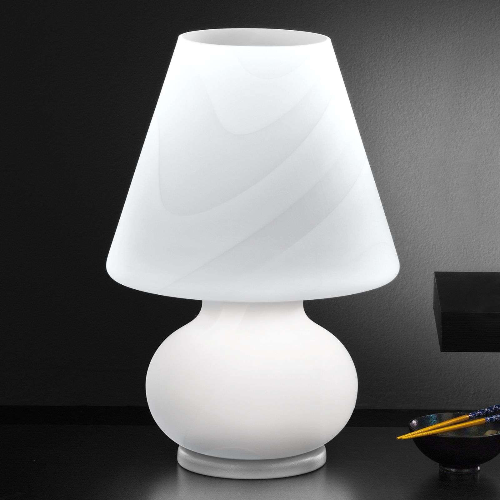 Glass table lamp Alice  height 50 cm