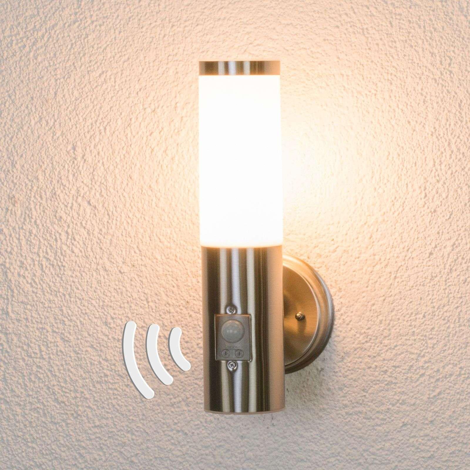 Kristof stainless steel sensor outdoor wall light