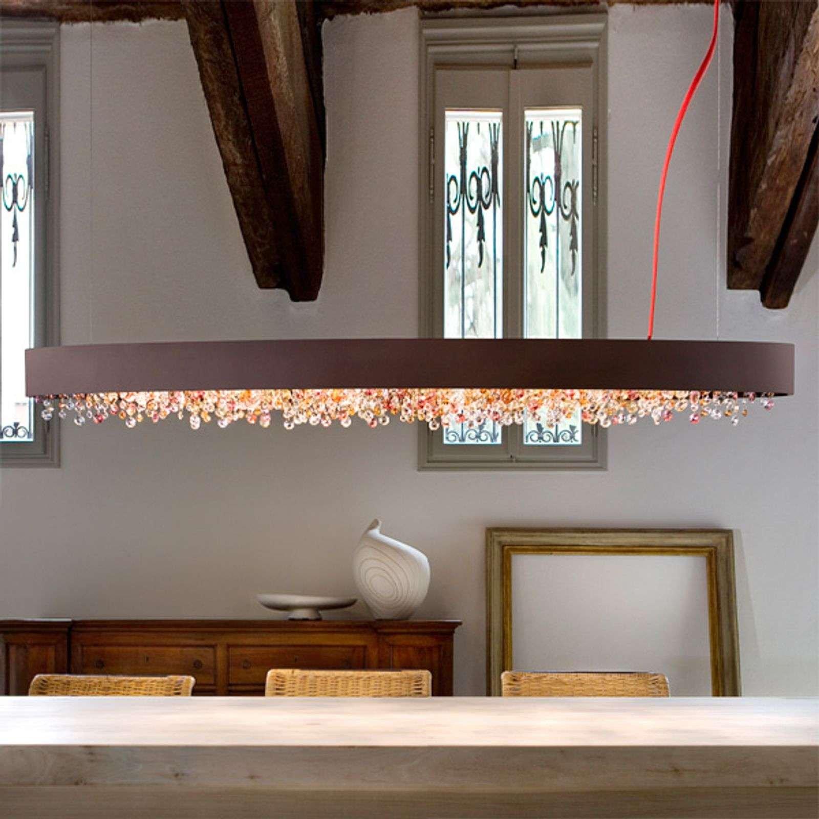 Oval hanging light Ola S6 OV160  warm bronze