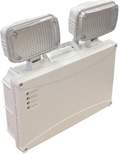 2x 3W Twin Spot LED Emergency Light   Non Maintained