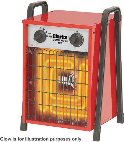 Clarke Clarke Devil 6003 3kW Industrial Electric Fan Heater  230V