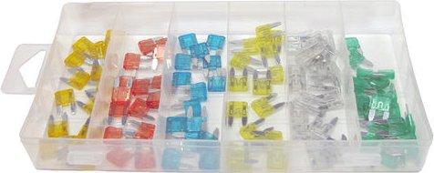 New 100 Piece Mini Automotive Fuse Set