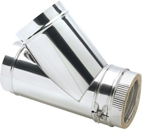 Clarke 6  Stainless Steel Twin Wall Flue 45  Tee