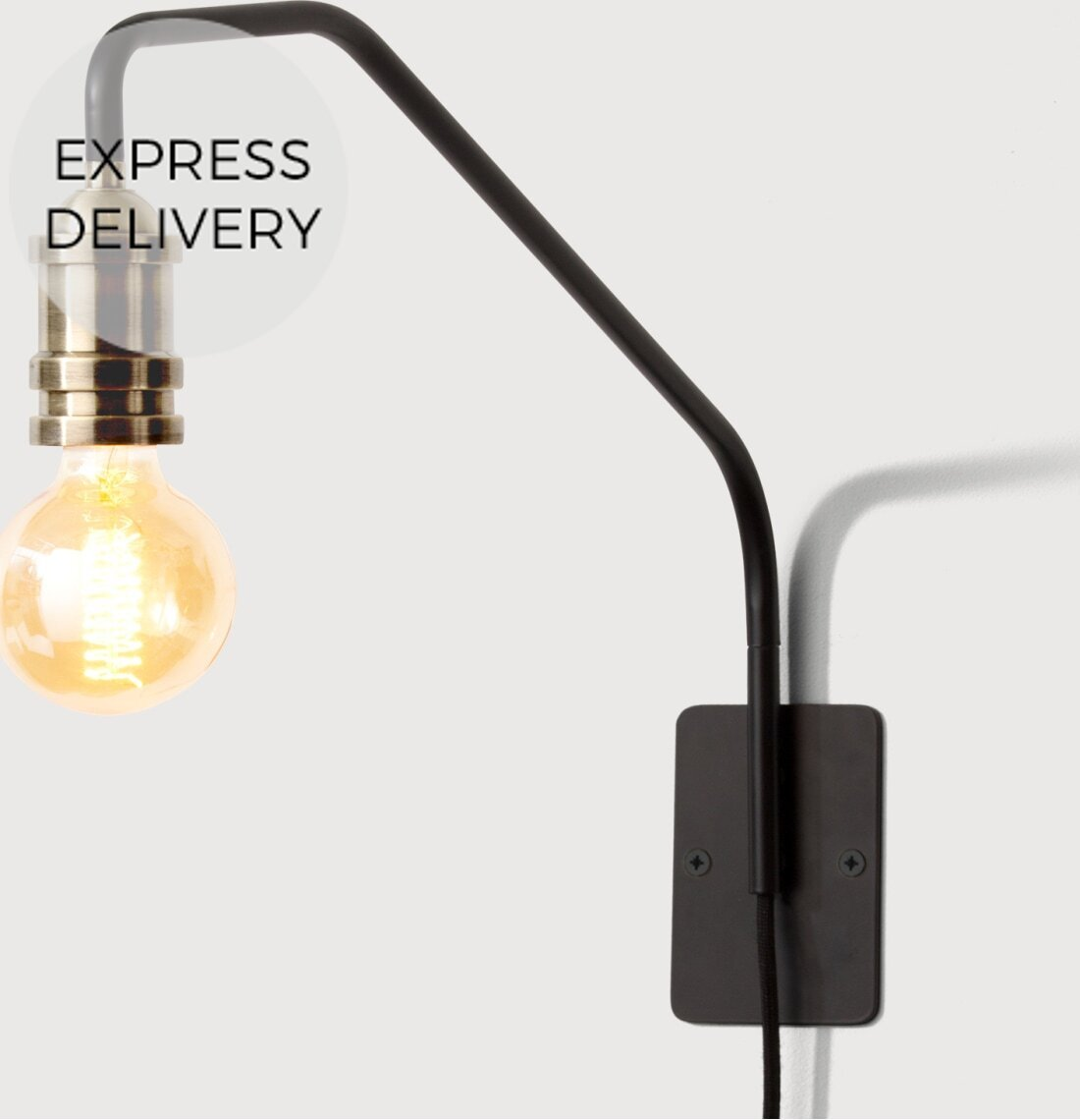 Starkey Wall Lamp  Black and Brass