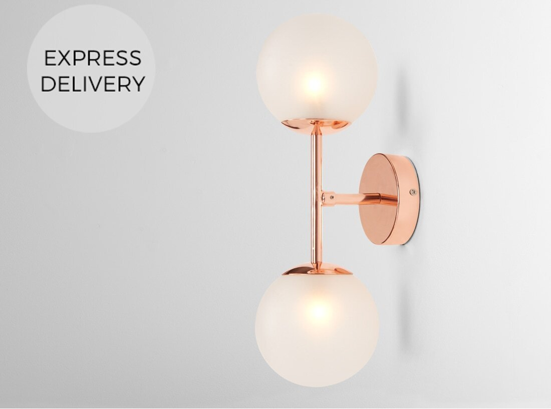 Globe Wall Light  Copper