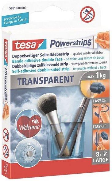 Tesa Powerstrips 58810 bis 1 kg »Transparent Large«