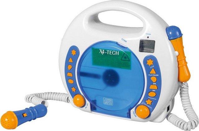 X4-TECH Kinder CD-Player Bobby Joey inkl. USB / MP3 und Mikrofone, B