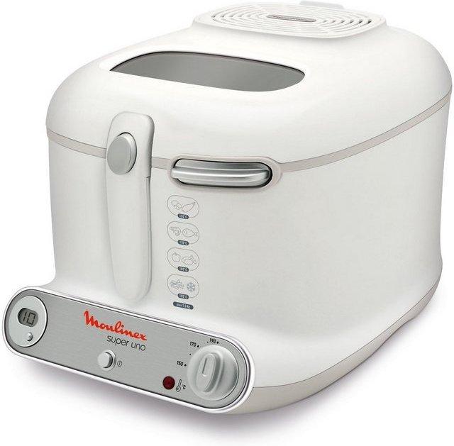 Moulinex Fritteuse AM3021, 1800 W, Fassungsvermögen 2,2 l, ergonomisch geformt und regelbarer Thermostat mit Temperaturkontrollleuchte