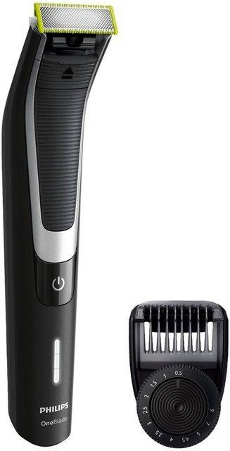 Philips Elektrorasierer OneBlade Pro QP6510/30, Aufsätze: 1, SmartClick-Präzisionstrimmer, Akku, Wet&Dry