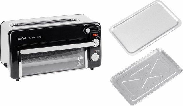 Tefal 2-in-1-Toaster Toast n' Grill und Mini-Ofen, 1 langer Schlitz, 1300 W, kein Vorheizen notwendig