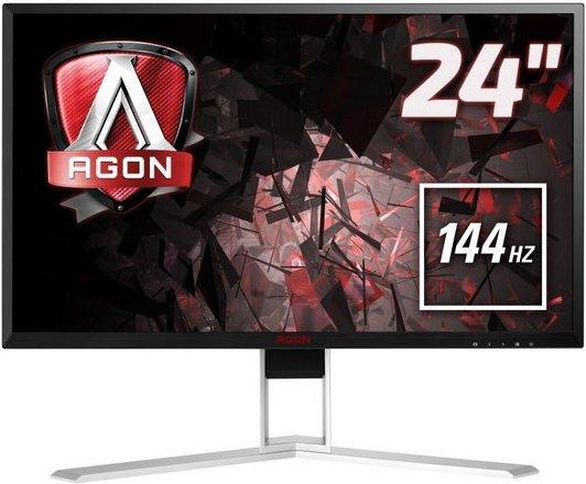 AOC AGON AG241QX Gaming-LED-Monitor (2560 x 1440 Pixel, QHD, 1 ms Reaktionszeit, 144 Hz)