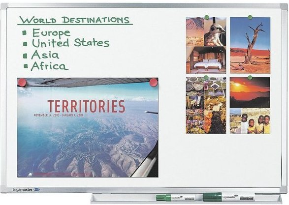 LEGAMASTER Whiteboard 7-100077 emailliert, 300 x 120 cm