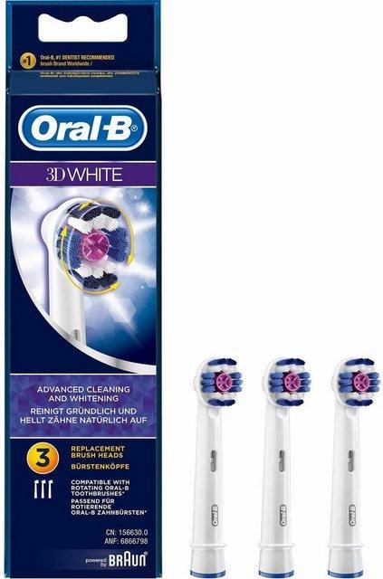Oral B Aufsteckbürsten »3DWhite«, in verschiedenen Ausführungen