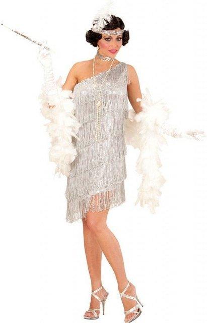 Charleston Flapper Lieselotte Damenkostüm silber
